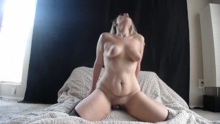 Horny Fat Cums Wild Ride Dildo