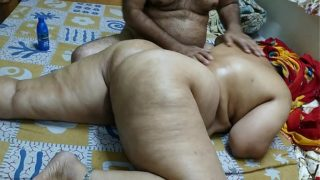 50 Year Old Indian Step Mom Full Figure Massge By Her Young 40 Year Aged Step Son