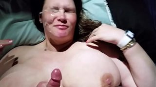 Bbw Wife Titty Fucked and Colossal Cumshot