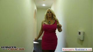 Blonde Step Mom Alura Jenson Jump Cock