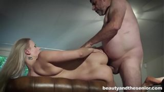 Blonde Katy Sky Seduces Old Boy Philippe Soine to Fuck Her