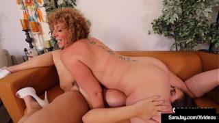 Busty Mother Sara Jay Finger, Tongue Pussy Fucks Huge Mama Fit Sidney