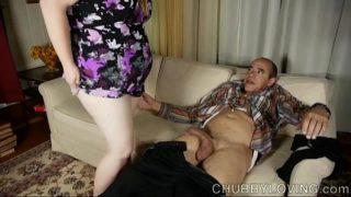 Charming Chubby Honey Loves Giving a Sexy Footjob