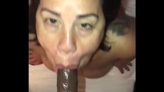 Latina Milf Gives Sloppy Blowjob Facial