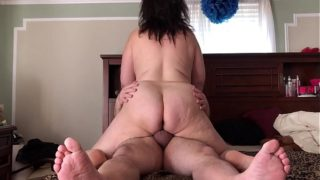 My Chubby B. Rides Me and Then I Slap Her Ass With My Big Nuts