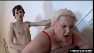 Old BBW Grandma Strips and Rides a Much Y. Dick
