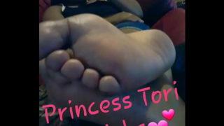 Princess Tori's First Footjob Milking
