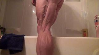 Sexy Muscular Legged Big Beautiful Woman Tempest Yvette Jones Fucks Herself With Vibrator