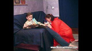 Mom Teaches Step Son About Actual Porn