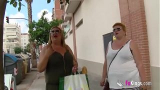 The Spanish Mommies As Well Want to Do Porn. Fat Blonde Milf Threesome