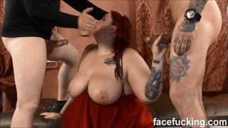 nový Fat Whore Curvy Quinn degradoval drsně na Face Fucking
