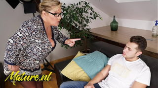 Busty German Professor Teaching Her Toyboy Student a Lesson!